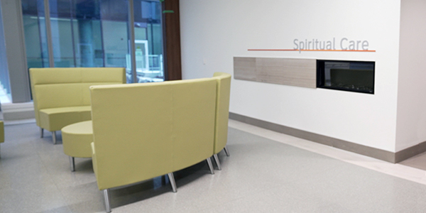 Spiritual care area with seating