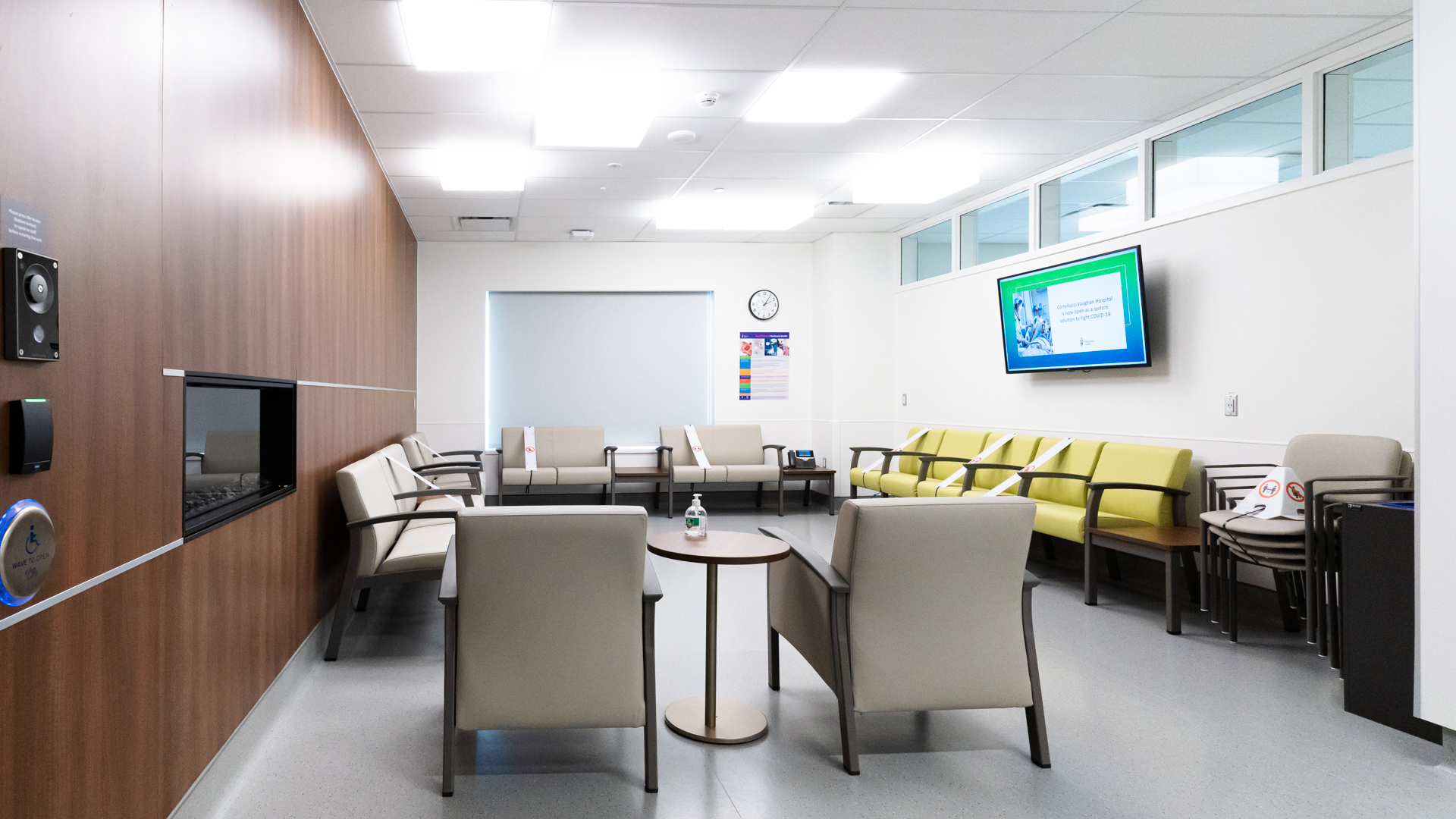 Family and Patient Waiting Area within Birthing Suites